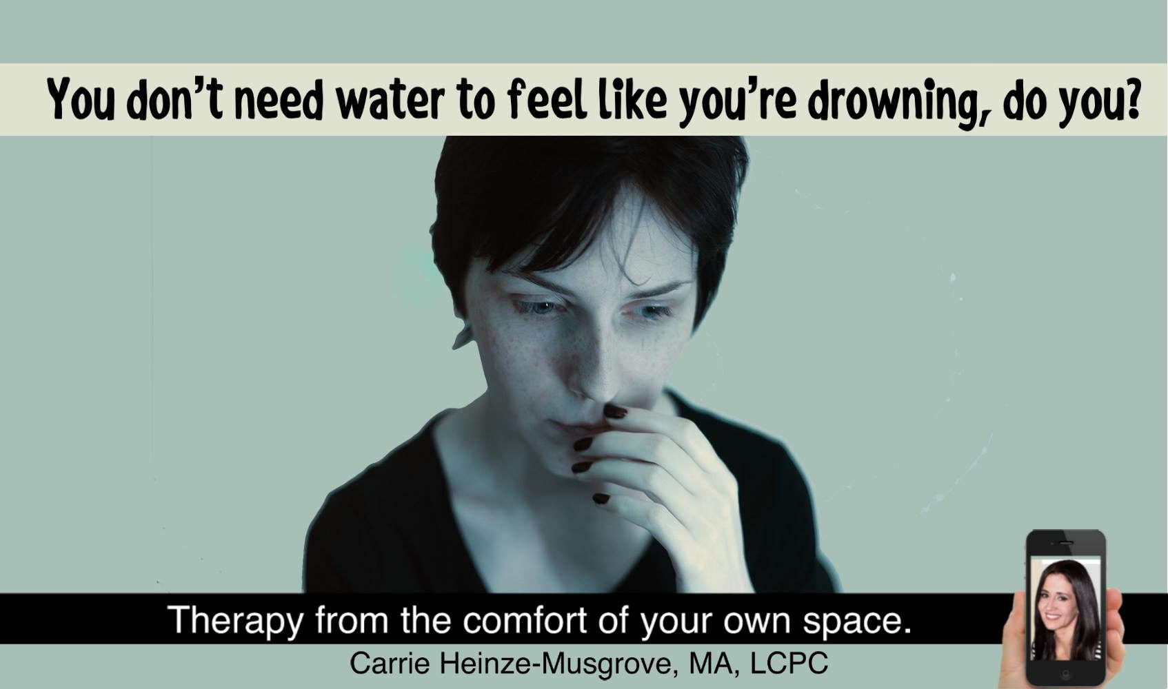 You don't need water to drown.